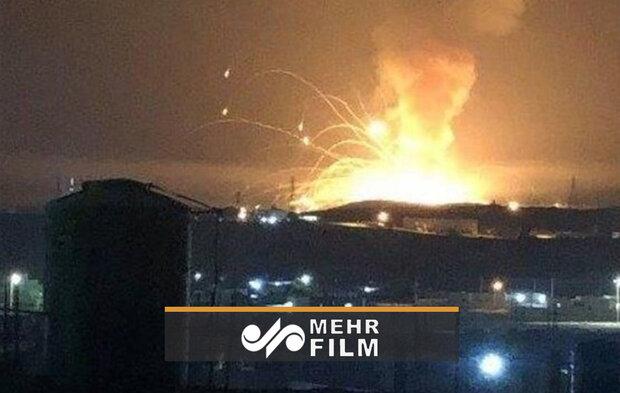 اردن کی فوج کے اسلحہ کے ڈپو میں زوردار دھماکہ