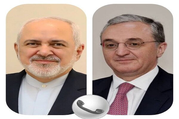 ایران اور آرمینیا کے وزراء خارجہ کی ٹیلیفون پر گفتگو