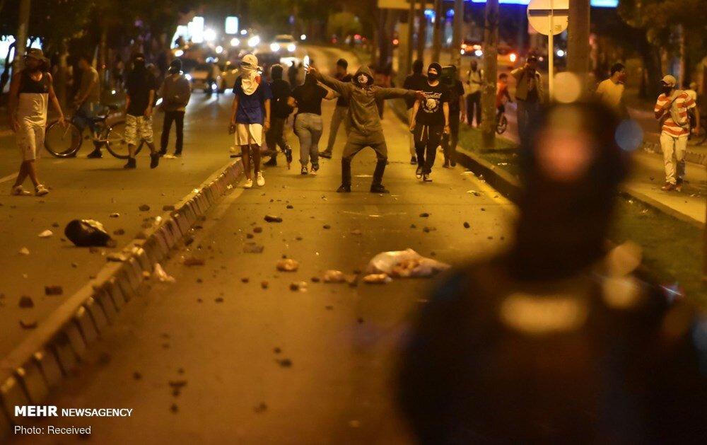اعتراضات علیه رفتارهای خشن و وحشیانه پلیس کلمبیا