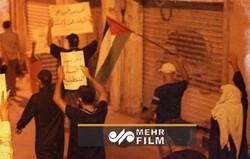 بحرینی عوام کا اسرائیل کے ساتھ تعلقات قائم کرنے کے خلاف مظاہرہ