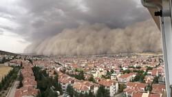 Ankara'daki kum fırtınasından fotoğraflar