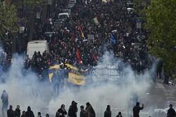 """حراك شعبي في جميع المدن الفرنسية ينادي باسقاط الرئيس الفرنسي """"ماكرون"""""""