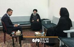 آیت اللہ سیستانی سے اقوام متحدہ کے نمائندے کی ملاقات