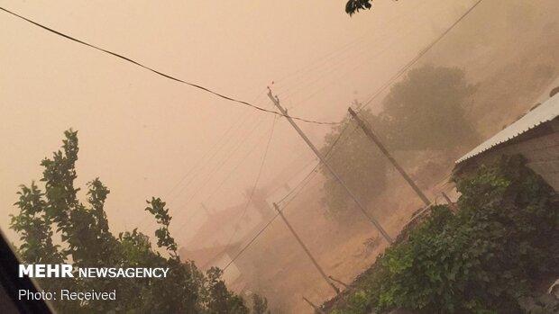 طوفان در شهرستان فسا یک کشته و یک مصدوم به همراه داشت