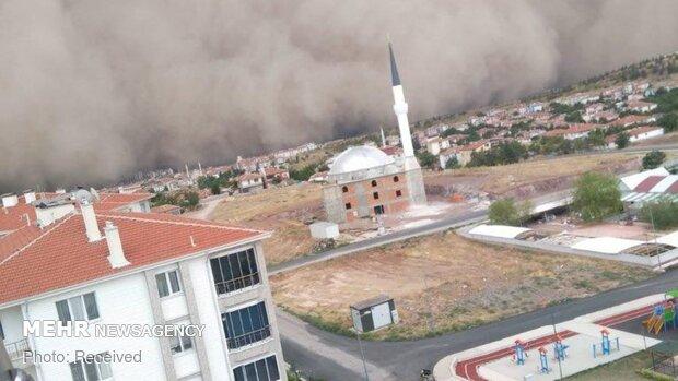 Ankara'da kum fırtınasından fotoğraflar