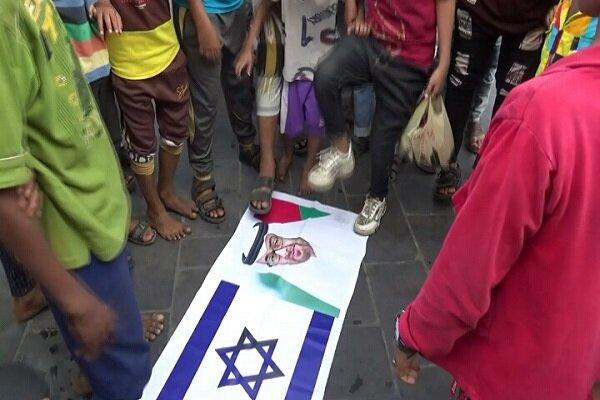 """مظاهرات في عدن رفضاً للتواجد الصهيوني في """"سقطري"""""""