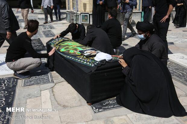 تشییع و تدفین پیکر آیتالله صانعی در قم