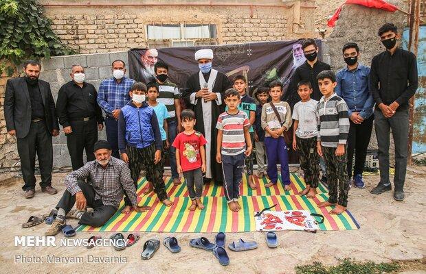 عکس یادگاری پانزدهمین روضه در پانزدهمین  روستا