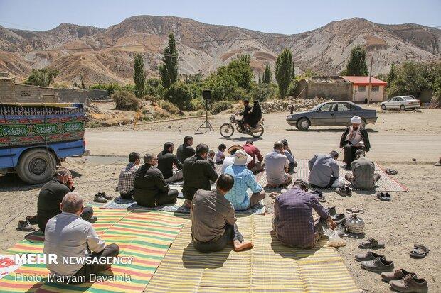 برپایی مجلس روضه ۷۲ شهید کربلا در روستای گیفان علیا