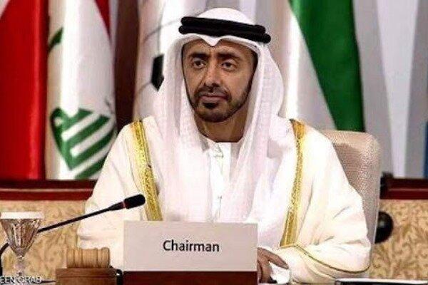 وزیر خارجه امارات با مقام صهیونیست گفتگو کرد/ انجام دیدار مشترک