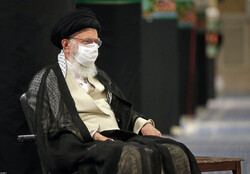 Ayatollah Khamenei at mourning procession of Imam Sajjad