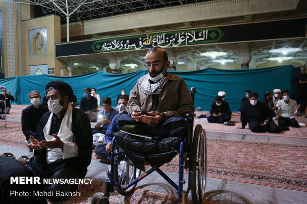 People in Qom hold mourning ceremony of fourth Shia Imam