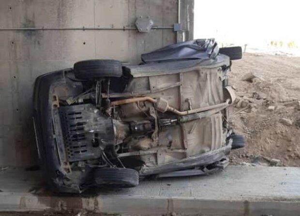 واژگونی خودروی سواری در جاده هریس دو کشته برجای گذاشت