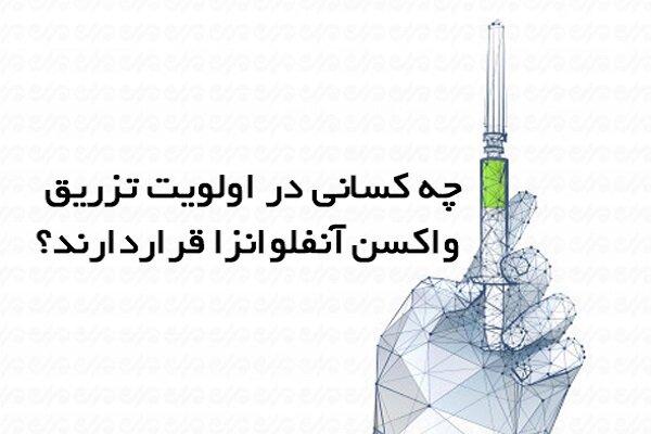 چه کسانی در اولویت تزریق واکسن آنفلونزا قرار دارند؟