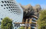 آتش سوزی در یک مجتمع تجاری در حال ساخت در بیروت