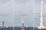 چین  ۹ ماهواره را از طریق دریا به فضا فرستاد
