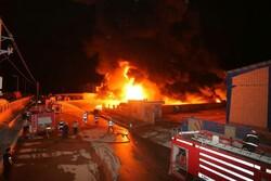 آتشسوزی شهرک صنعتی اشتهارد تاکنون خسارت جانی نداشته است