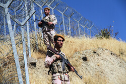 Iranian border guards in Kordestan province