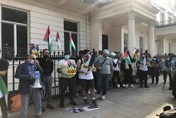 بحرینی عوام کا بحرین اور اسرائیل کے درمیان سازشی معاہدے کے خلاف مظاہرہ