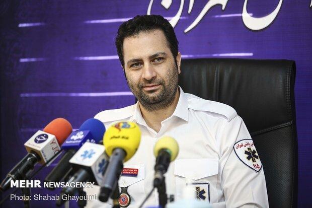 حضور پیمان صابریان رئیس اورژانس تهران  در نشست خبری به مناسبت سالروز تاسیس اورژانس