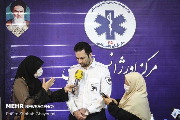 نشست خبری پیمان صابریان رئیس اورژانس تهران به مناسبت سالروز تاسیس اورژانس