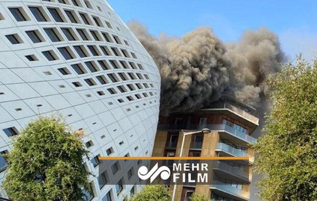 VIDEO: Blaze at Zaha Hadid building in Beirut