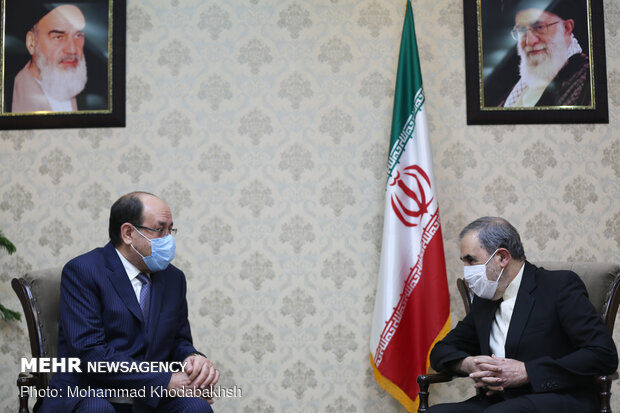 Al-Maleki holds talks with Velayati in Tehran