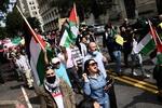 تظاهرات بر ضد توافق سازش در مقابل کاخ سفید