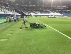 تصاویری از ترمیم چمن ورزشگاه قطری بعد از بازی پرسپولیس