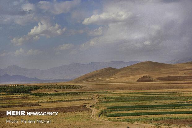 زمین های کشاورزی روستا