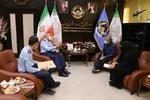 فرمانده نیروی هوایی ارتش با خانواده شهید رحمانی دیدار کرد