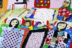 Iranian teenager ranks 1st at Intl' painting contest