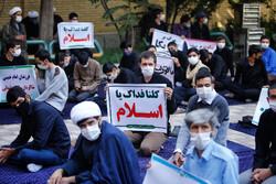 Seminary students condemn betrayal of regional Arab rulers