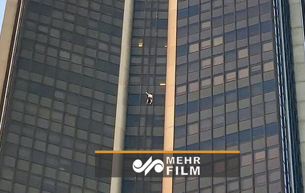 VIDEO: Man arrested scaling tallest building in Paris
