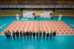 مراسم کمک مومنانه فدراسیون والیبال برگزار شد