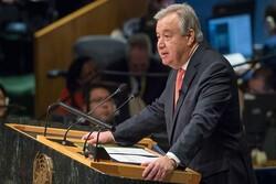 انطونيو غوتيريش: المجتمع الدولي سيواجه الغطرسة الاميركية برفض الحظر على إيران