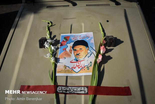 تشييع ودفن جثماني شهيدي الدفاع المقدس في شيراز / صور