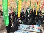 تشییع شهید مدافع حرم در کاشان