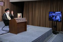 İslam Devrimi Lideri'nin konuşmasından fotoğraflar
