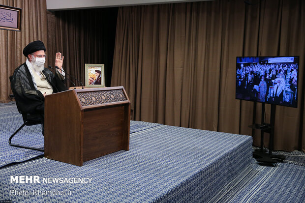 Leader's videoconference meeting with War veterans