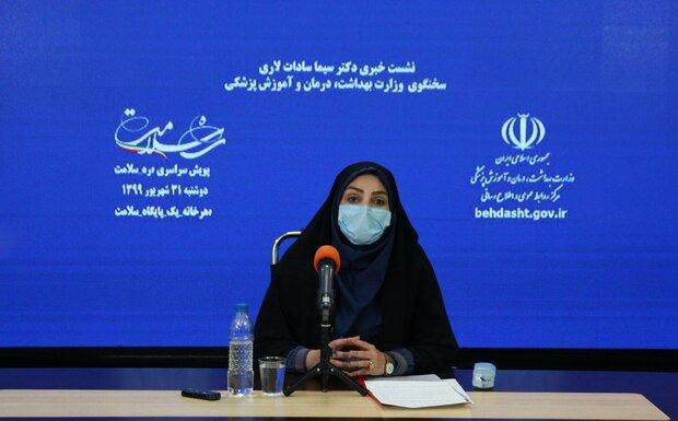 المتحدثة باسم وزارة الصحة الايرانية: تم رصد 178حالة وفاة جديدة بسبب كورونا في البلاد