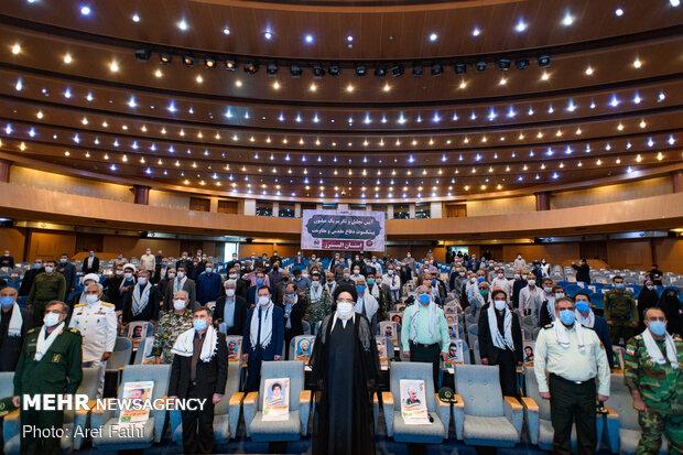 حفل تكريم مليون من محاربي الدفاع المقدس في المحافظات / صور
