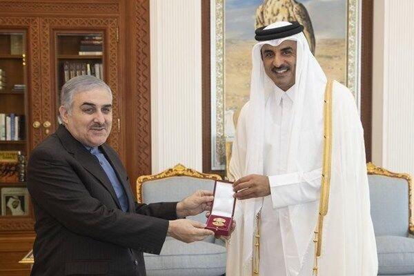 Iranian envoy bids farewell to Qatar officials