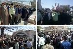 مراسم تشییع شهید امنیت در فهرج برگزار شد