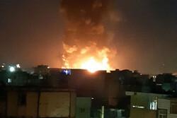 آتش سوزی در شهر لبنیات اسلامشهر/حریق همچنان ادامه دارد