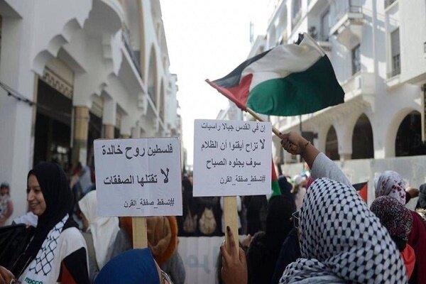مراکشیها علیه عادیسازی روابط با رژیم صهیونیستی تظاهرات کردند