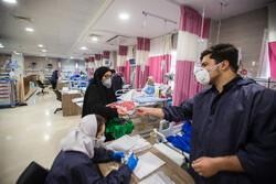 کمکرسانی ۳ گروه جهادی دانشجویی به کادر درمان البرز