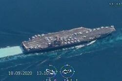 """الحرس الثوري يرصد حاملة الطائرات الاميركية """"نيميتز"""" بطائرات مسيرة محلية الصنع"""