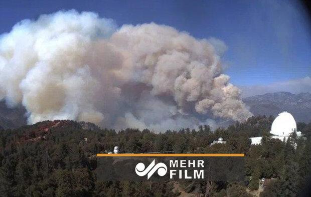 VIDEO: Blaze at Mt. Wilson comm. towers in LA