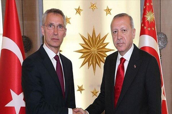 اردوغان با دبیرکل ناتو گفتگو کرد